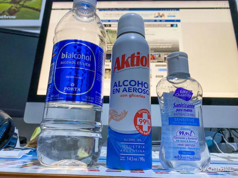 Alcohol sanitizante en los aviones ¿Cuales se pueden subir y en que cantidad?