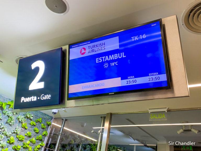 El vuelo a Estambul con Turkish I/II (etapa a San Pablo)