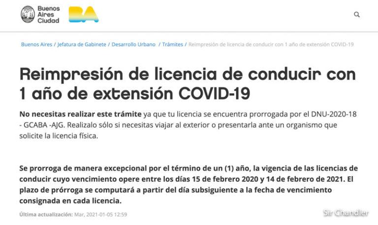 Licencia de conducir en proceso de reimpresión por vencimiento