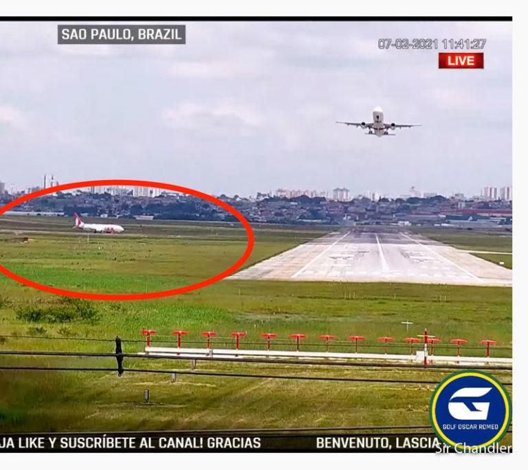 Pusieron una cámara en la punta de la pista de San Pablo con transmisión en directo