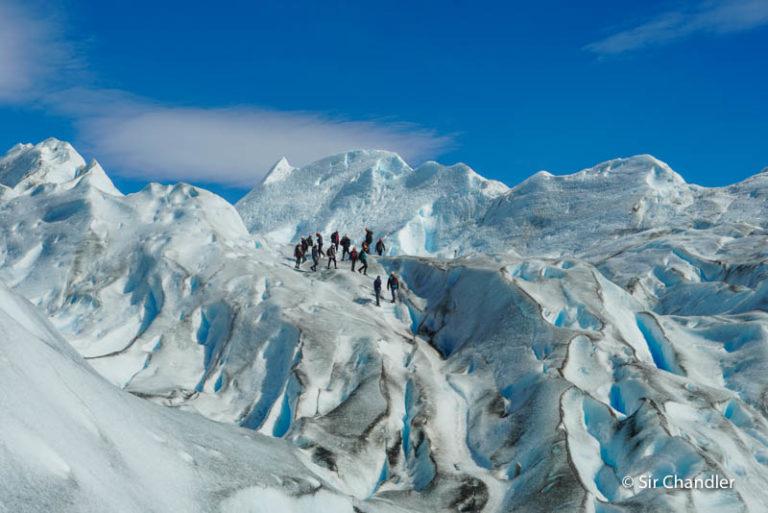 La caminata sobre el glaciar Perito Moreno hecha en familia