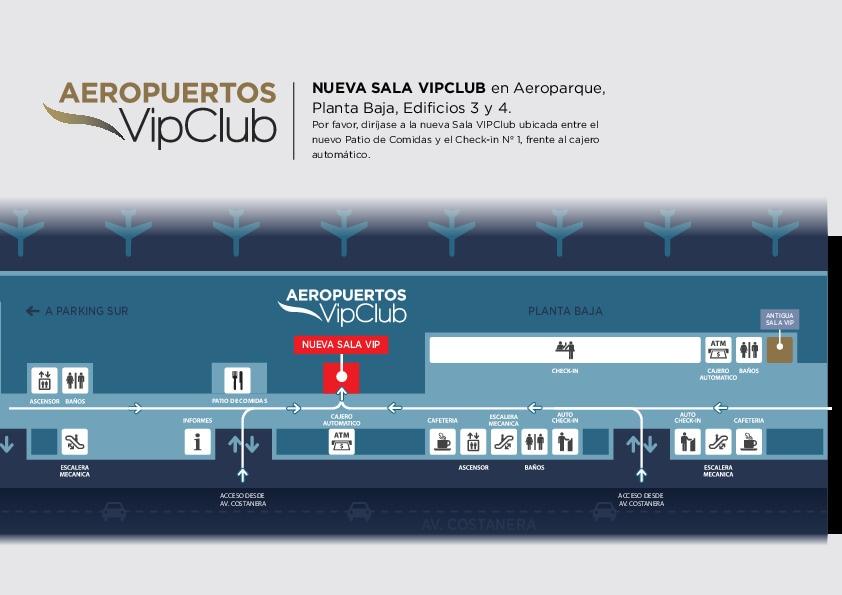 Volvió a funcionar la sala VIP de AA2000 en Aeroparque