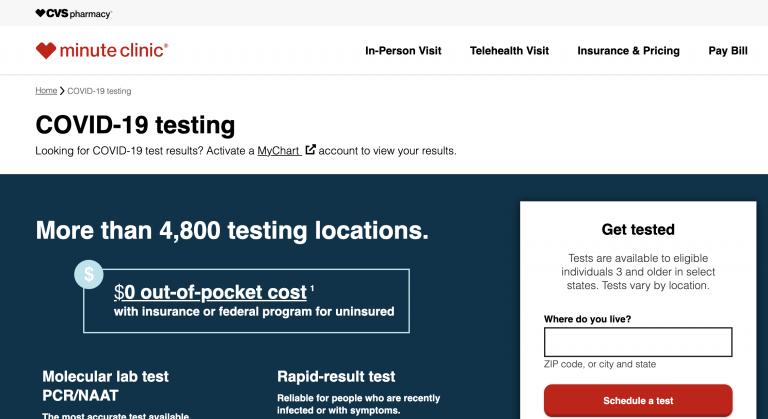 Test PCR gratis en las farmacias CVS de Estados Unidos para volver a la Argentina